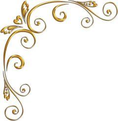 Gold page corner